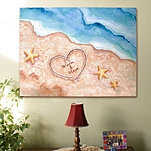 """Shores Of Love"" Wall Canvas"