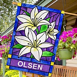 Lilies House Flag
