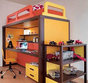 Maderitas dormitorios infantiles quito - Cama con escritorio abajo ...