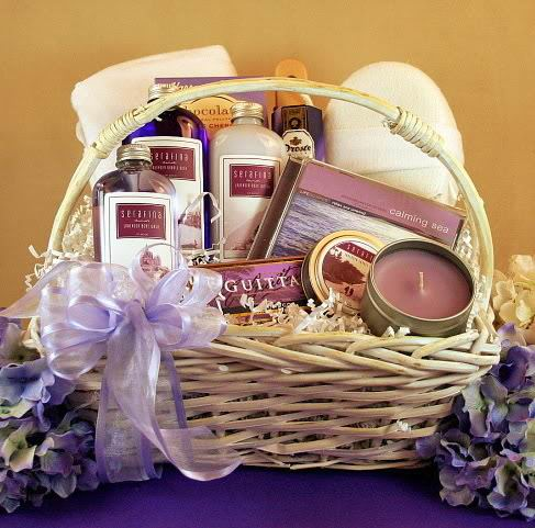 Lavendar Birthday Gift Baskets Her