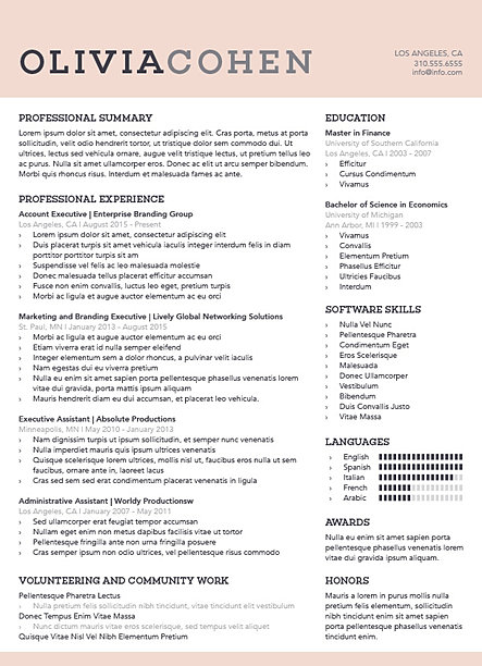 standout resumes professional resume design