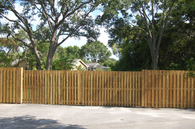 32' wood swing double drive gate