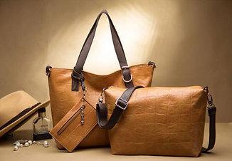 Набор сумок 3 в 1 натуральная кожа арт А128
