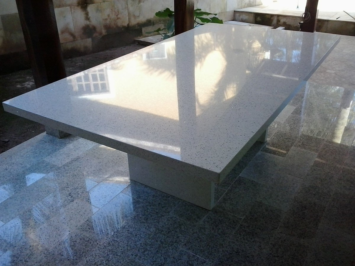 Marmoraria pedra lua rio de janeiro rj agende um visita mesa de centro em silestone - Mesa de silestone ...