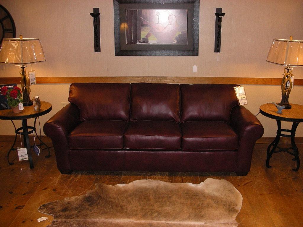 Green Mountain Furniture Ossipee Nh F1 3305 Leather Sofa .