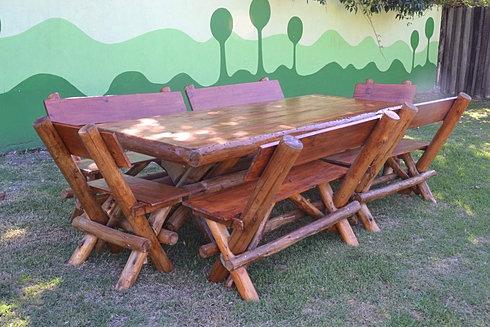 Ayres rusticos mesas sillones y juegos en madera de pino - Bancos de madera rusticos ...
