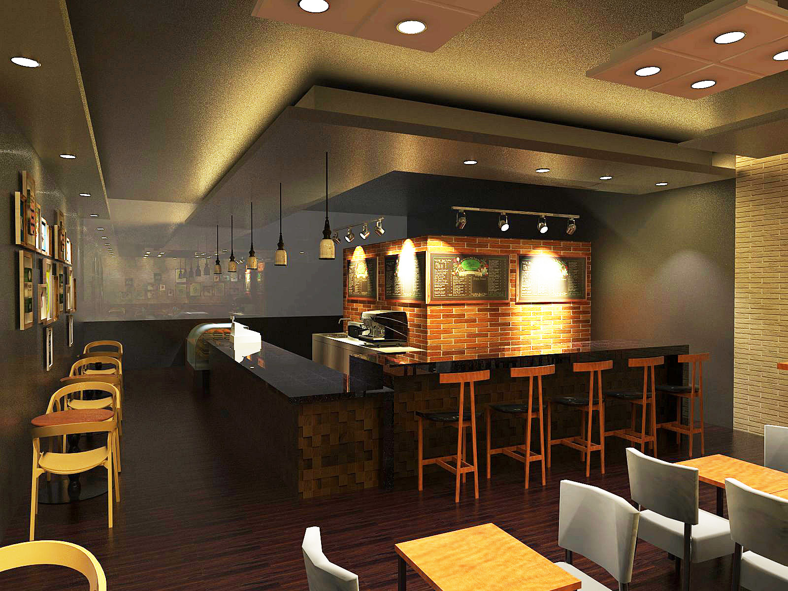 Here Is The 3d Drawing For Cafe Tp My Client Told Me They Wqant Something Look Like Starbuck
