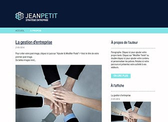 Blog Entreprises Template - Créez un blog captivant et informatif avec ce template de blog moderne et sérieux. Son design professionnel vous permet de proposer des idées, de partager des avis, des opinions et de rédiger des commentaires de façon claire et organisée. Utilisez la fonction