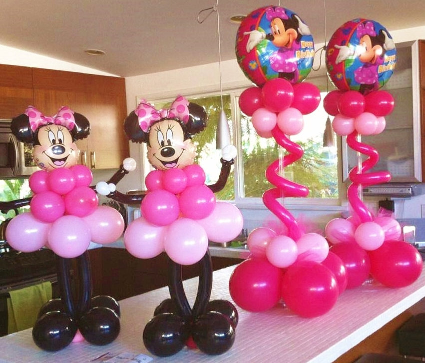Minnie mouse balloon centerpieces car interior design