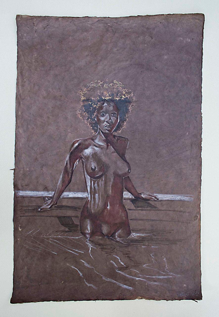 Joyce Standing in Pool