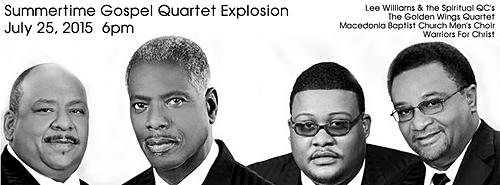 'Summertime Gospel Quartet Explosion' July 25th at Panama City Marina Civic Center ….