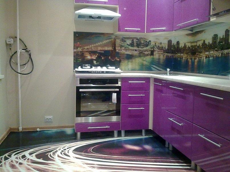 Наливной пол в кухне видео
