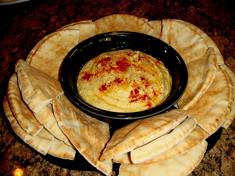 hummus and pita bread tortilla chips and salsa pico de