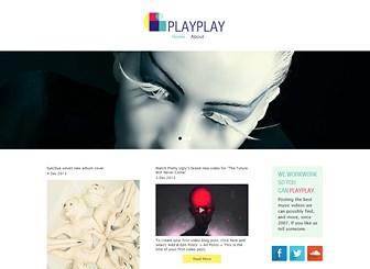Blog Muzyczny Template - Nowoczesny szablon z kreatywnym layoutem i mnóstwem miejsca na multimedia, stworzony z myślą o profesjonalnych blogerach muzycznych. Twórz posty, w których będziesz promować swoich ulubionych artystów, ścieżki i teledyski. Rozpocznij edytowanie i narób szumu!