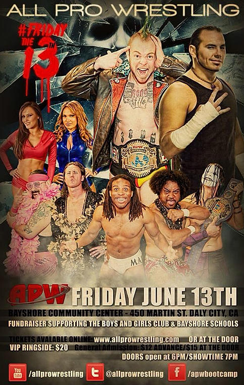 All Pro Wrestling Fundraiser Event…Friday is almost here!