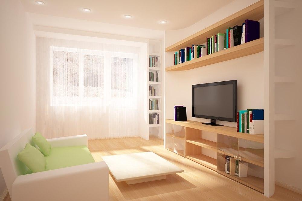 Дизайн гостиной комнаты 18 кв.м с окном фото