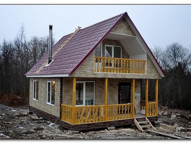 Каркасный дом из металлопрофиля своими руками