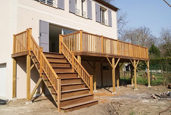 Terrasses en bois sur mesure en IledeFrance  Colin Construction