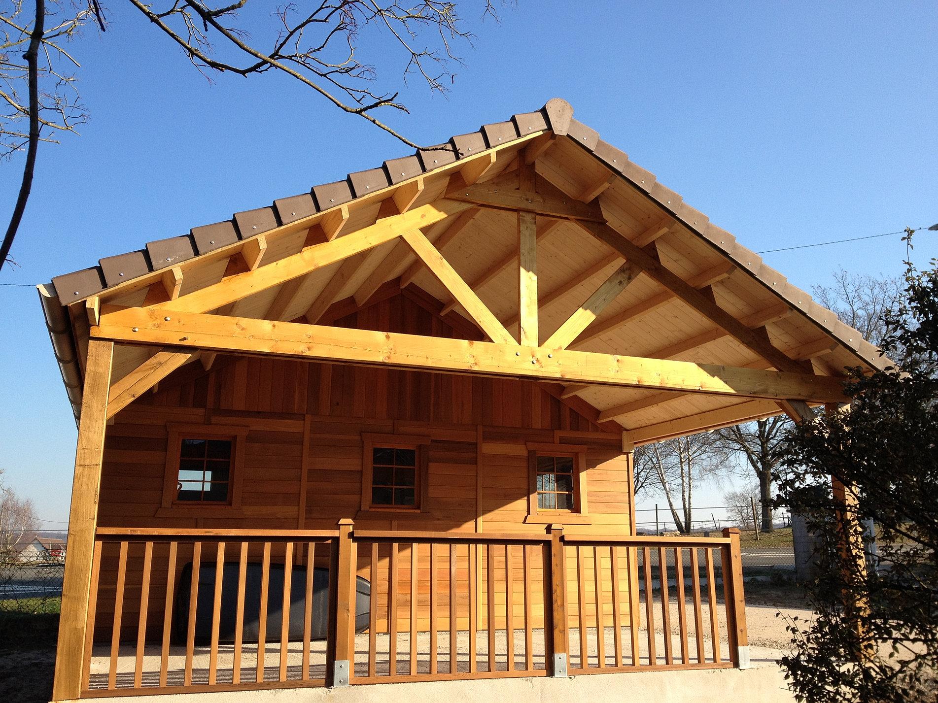 Carport bois yvelines for Permis de construire pergola