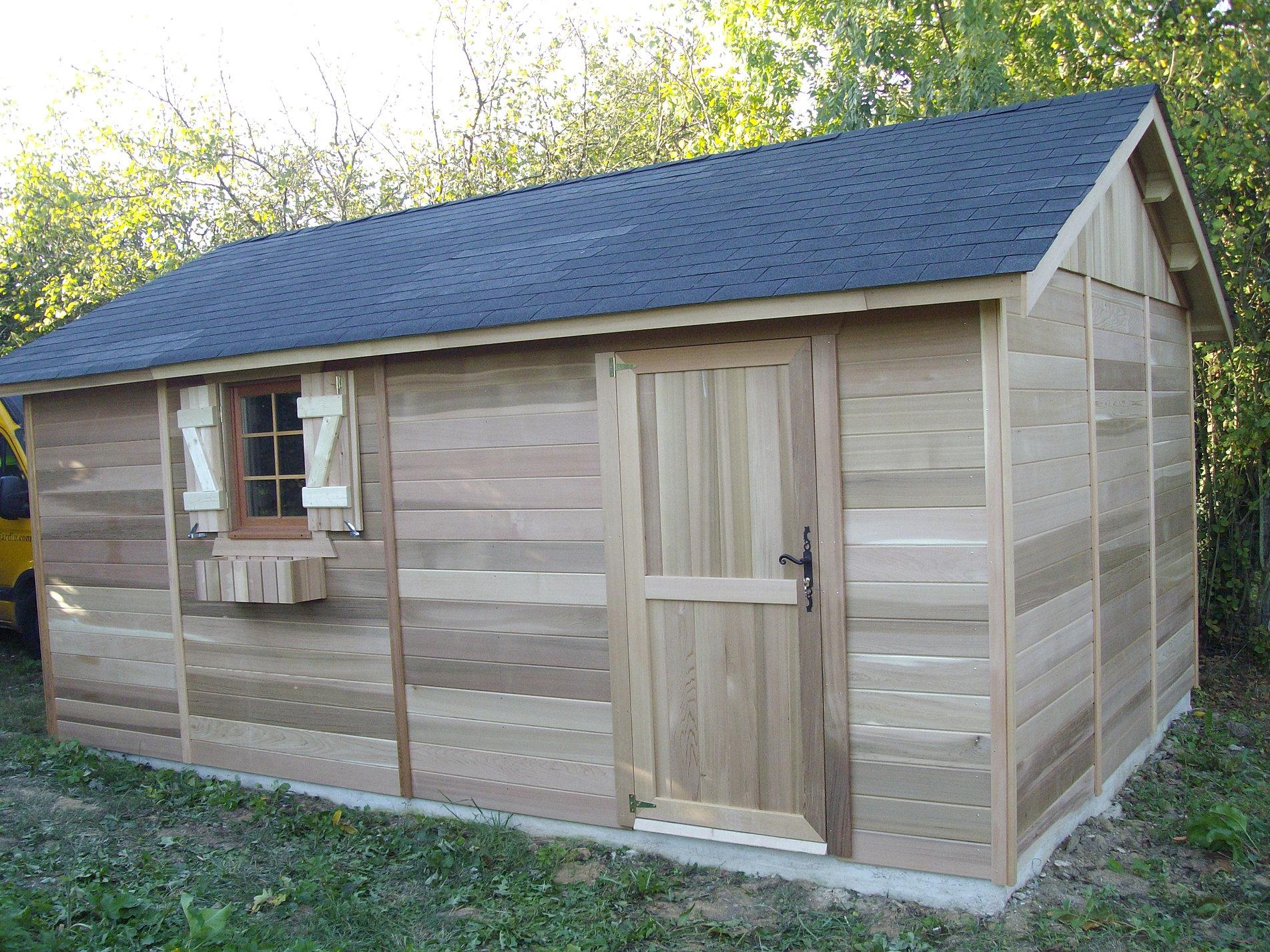 Abris de jardin et terrasses bois en idf colin construction for Abri de jardin terrasse