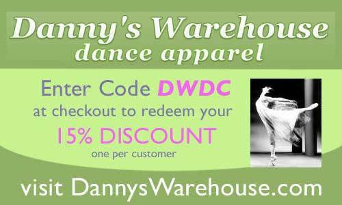 danseCOUPON - the online coupon site for dancers | Dannys Warehouse ...