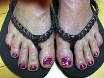 Pink Toes With Flowers.JPG