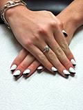 Black and White Angle Gel Polish