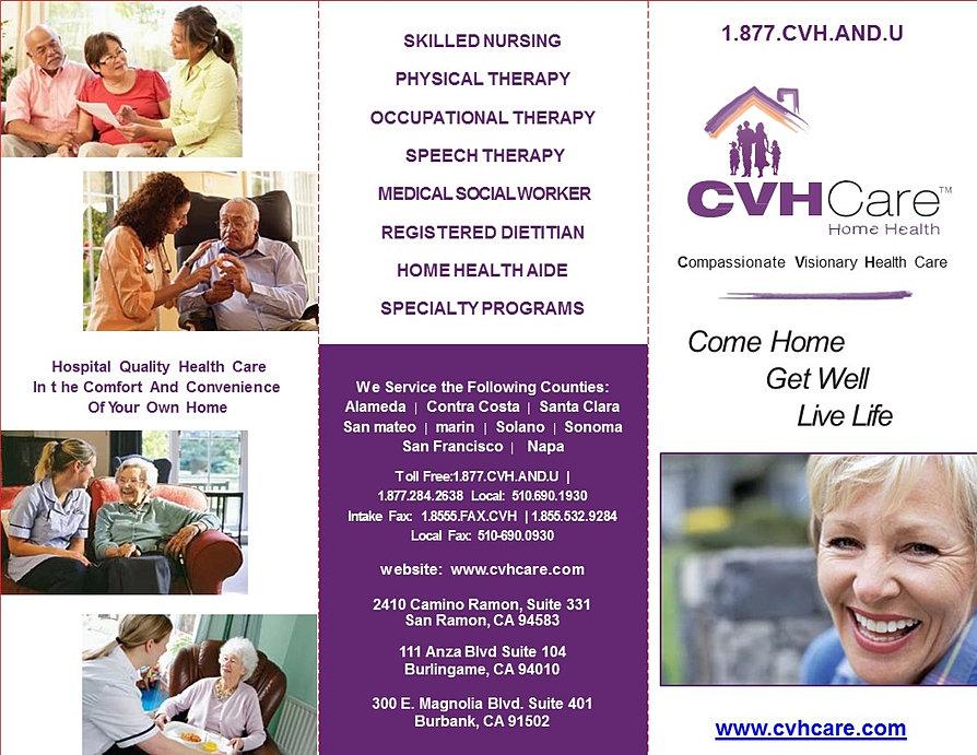 CVHCare Home Health | Compassionate Visionary Health Care | Brochure
