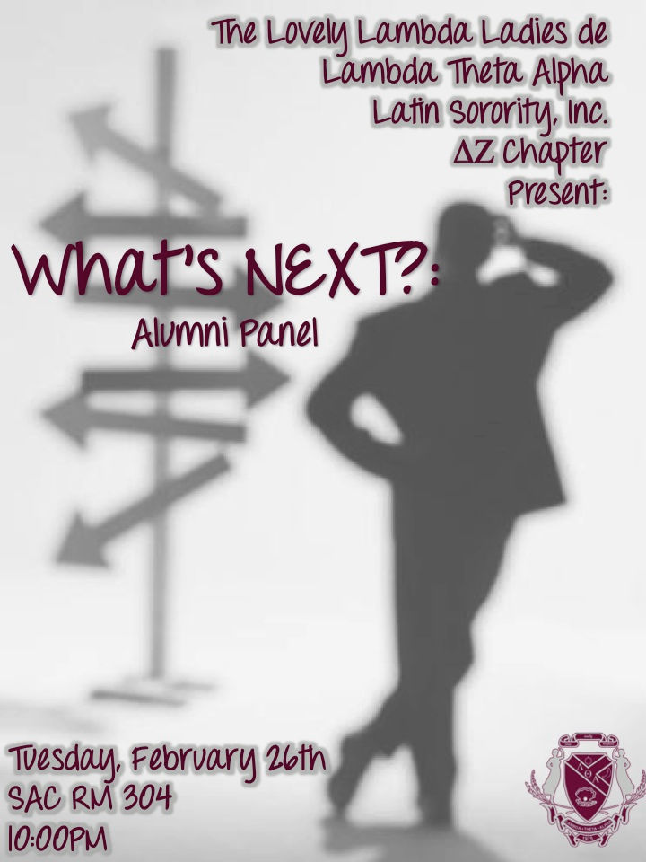 What     s Next  Alumni Panel Lambda Theta Alpha Latin Sorority  Inc