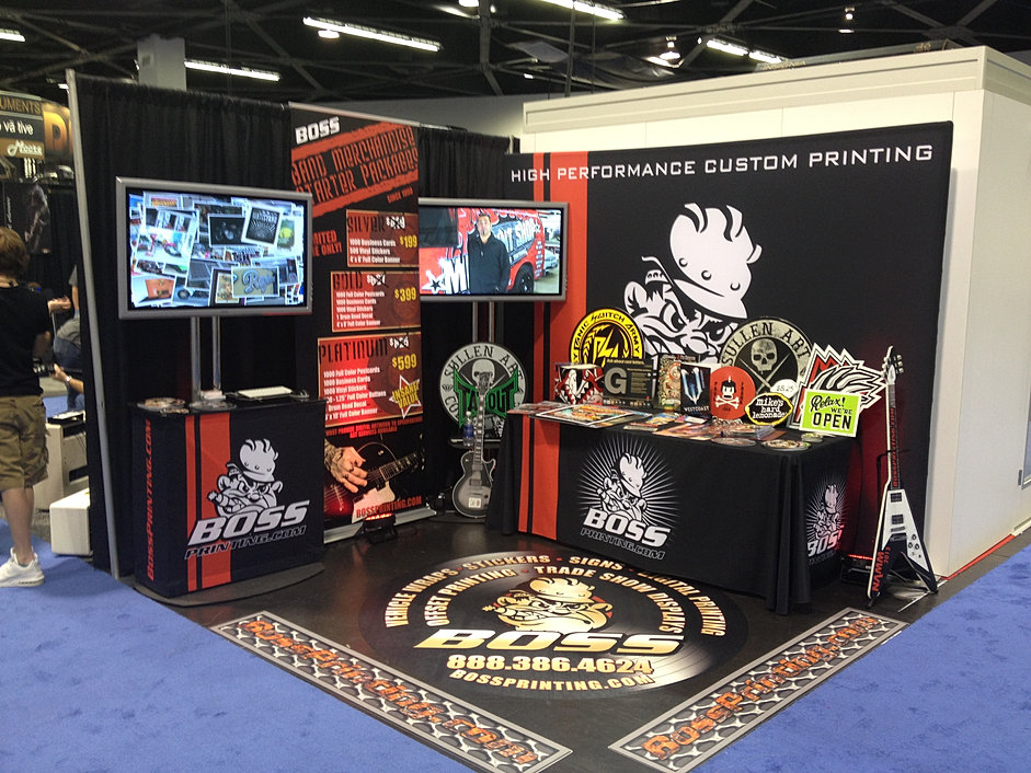 Boss printing trade show booth