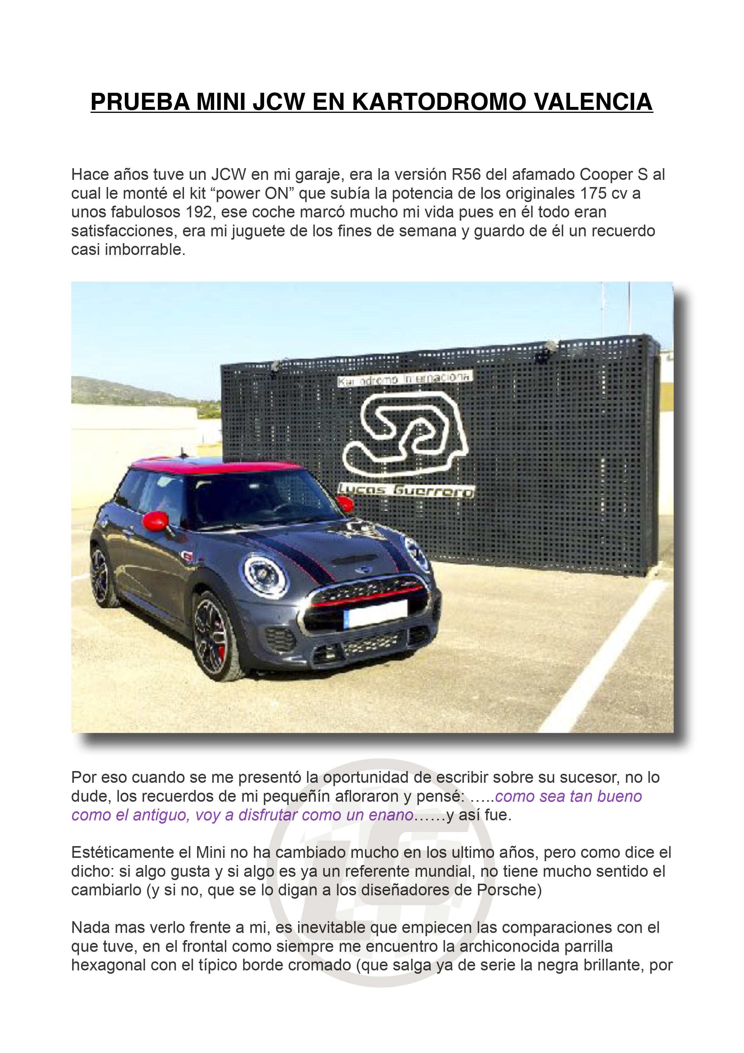 Kartódromo Valencia | Testing Automóviles