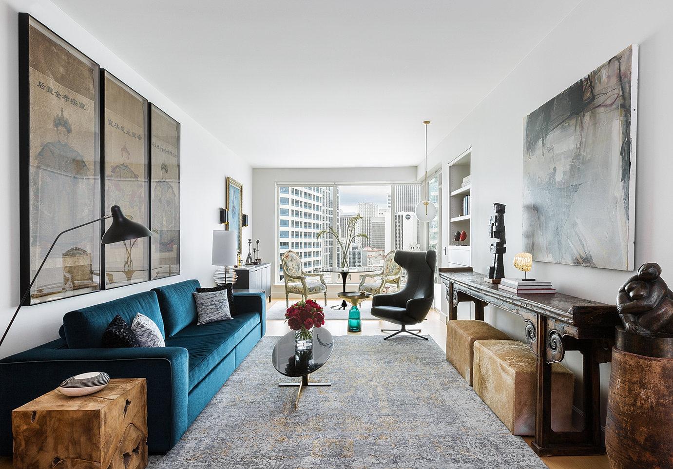 eclectic escala living area - Interior Designers In Seattle