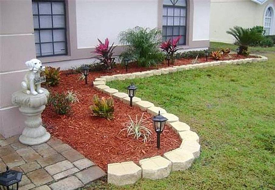 Garden Mulch Ideas how to make rock mulch look amazing Garden Mulch Ideas Garden Home Landscaping Ideas With