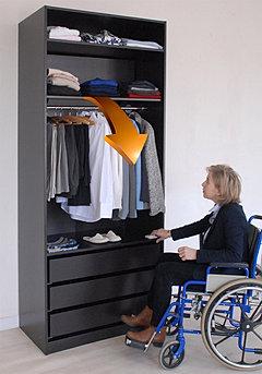 easydress penderie motoris e r glable e. Black Bedroom Furniture Sets. Home Design Ideas