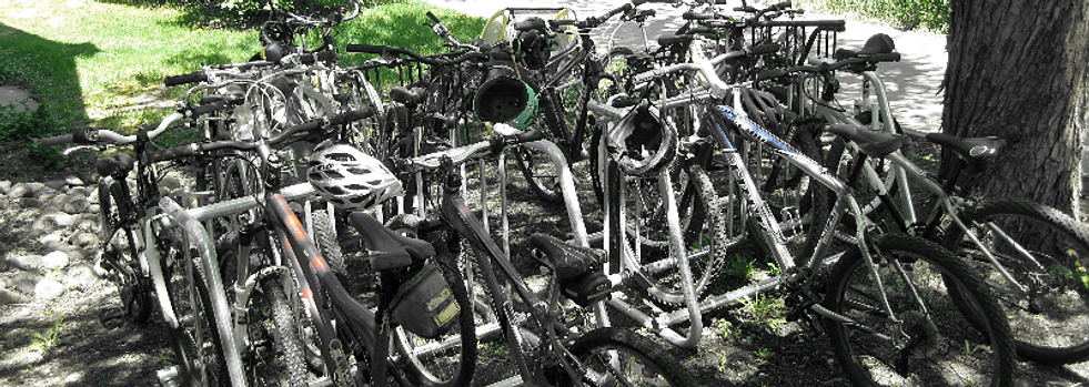 Emerald Mountain School's bike racks
