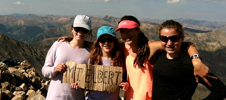 Reaching the summit of Mt. Elbert!