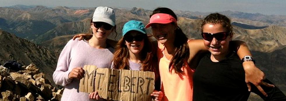 Reaching the summit of Mt. Elbert!
