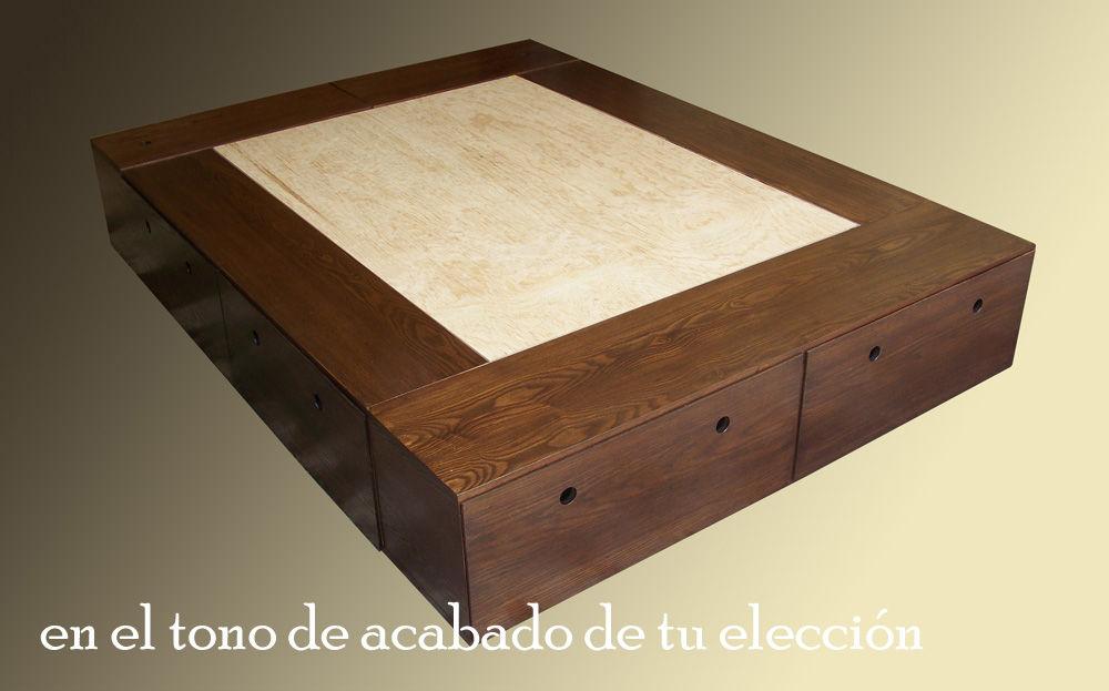 Muebles debuenaraiz comedores salas complementos gran - Bases de cama de madera ...