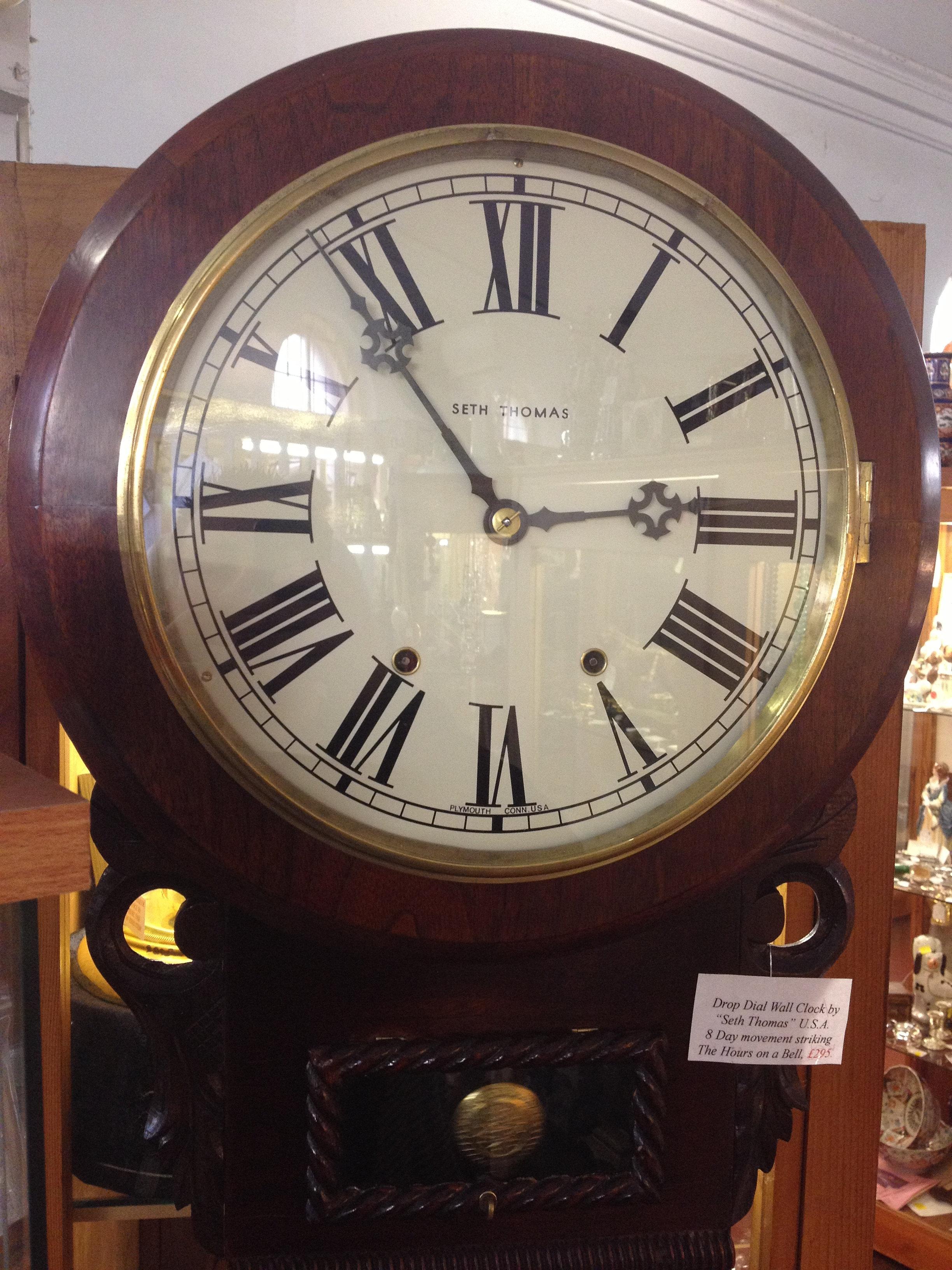 newark antiques centre drop dial wall clock. Black Bedroom Furniture Sets. Home Design Ideas