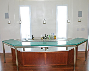 Exceptionnel Hex Glass Bar Top 1 Inch