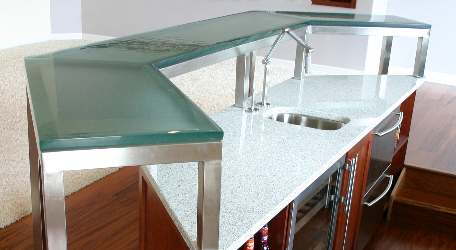 Modern Glass Solutions Glass Counter Tops And Custom Cast
