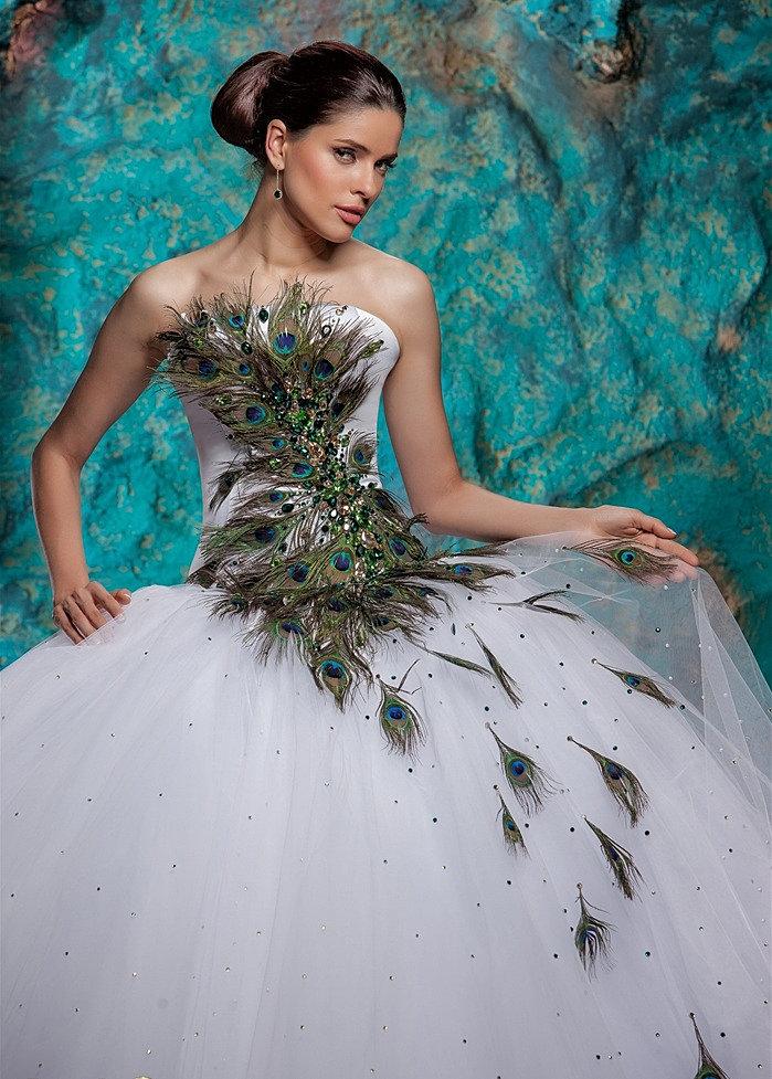 Свадебное Платье С Элементами Перьями 87