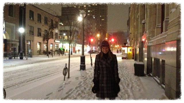 Jess in downtown Toronto
