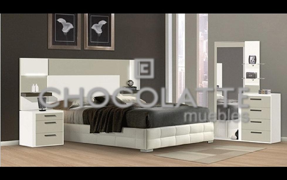 Recamaras chocolatte muebles for Recamara individual blanca