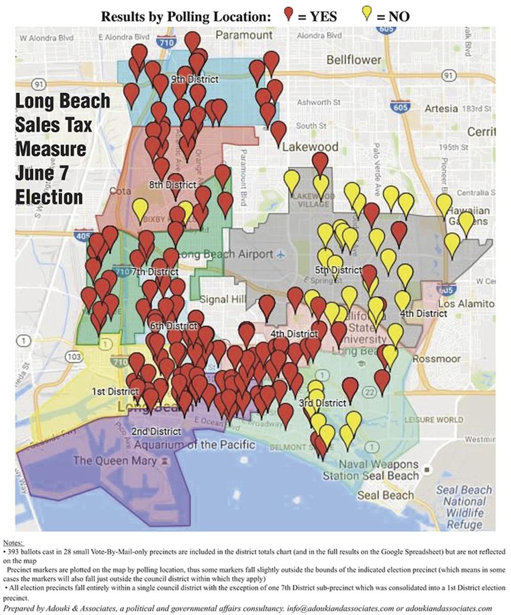 Long Beach Sales Tax June