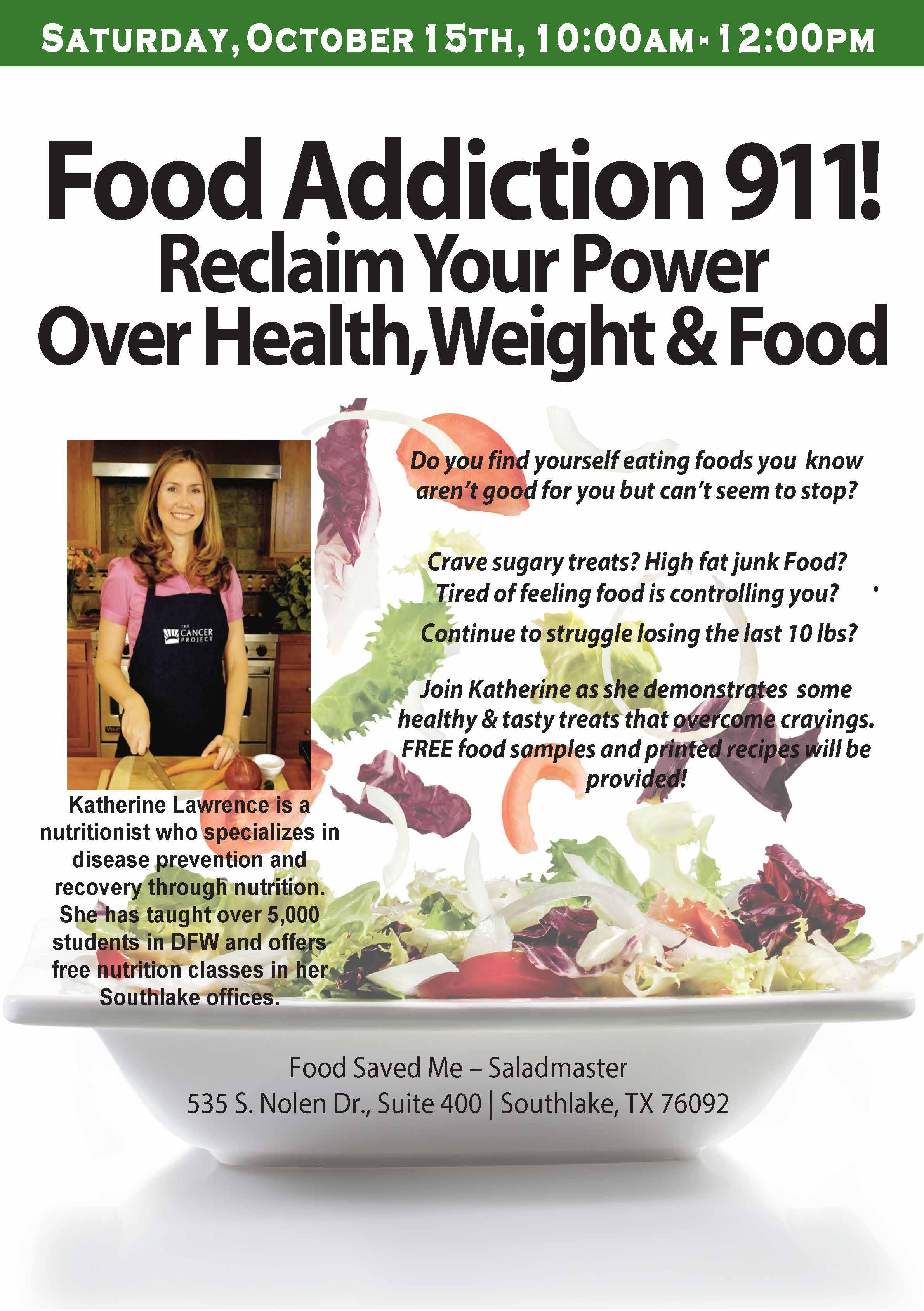 Food Addiction 911 Flyer