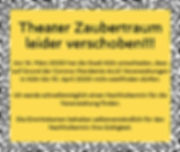 Theater Zaubertraum leider verschoben!!!