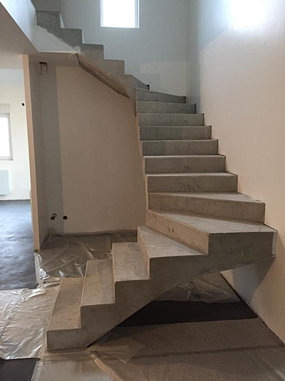 Concrete design beton cire renovation decoration metz escaliers - Escalier design beton ...