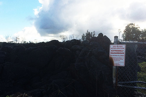 Lava Dangerous sign