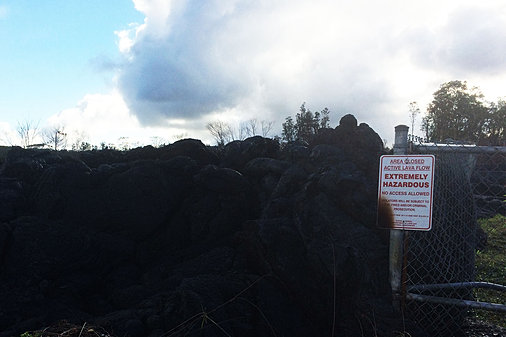 Lava Dangerous sign